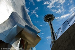 Experience Music Project versus the Space Needle