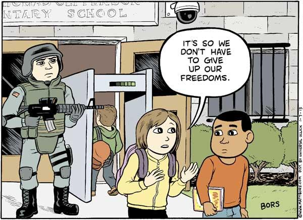 It's so we dont have to give up our freedom. art by MattBors.com