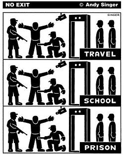 security: travel, school, prison